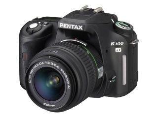 Pentax K100D SLR-Digitalkamera (6 Megapixel, Bildstabilisator) mit DA 18-55 / 3,5-5,6 Objektiv, schwarz