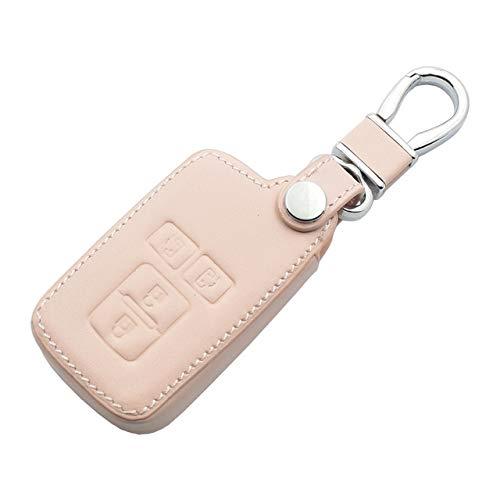 JXSMQC Leder Autoschlüssel Fall 4-Tasten-Fernbedienung Schlüsselbund Tasche Autoteile.Für Toyota Sienta Noah Voxy Esquire VELLFIRE Alphard