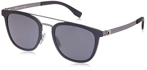Hugo Boss 0838/S IR gafas de sol, Negro (Mtbk Smtdkrt/Grey Blue), 52 para Hombre