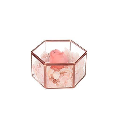 Feyarl Antikschmuck Schmuckkästchen Glasbox handgemacht Messing verzierte Ringe Ohrringe Box...