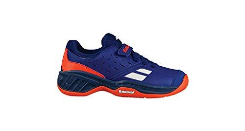 Babolat Pulsion Allcourt Outdoor Tennisschuh für Kinder (blau/ orange)-34