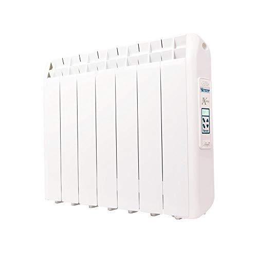 farho Riscaldamento Elettrico a Basso Consumo XP (Xana Plus) 770W (7) · Termosifone Elettrico con Cronotermostato Programmabile 24/7 e Opzione WiFi · per soggiorni a 12 m² · 10 Anni di Garanzia