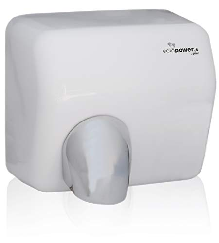 plikc EOLO Power-S Asciugamani Elettrico a fotocellula, Materiale Metallo smaltato e trattato, Bianco