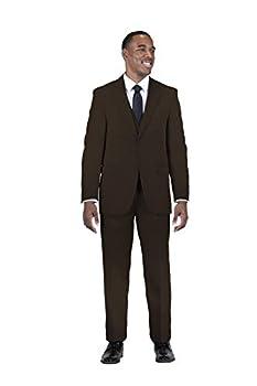Stacy Adams Men s Suny Vested 3 Piece Suit Brown 44 Regular