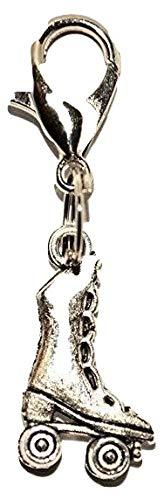Silver Knight Tibetanisches Silber Rollschuh-Anhänger zum Anklippen, Schlüsselanhänger, Organza-Geschenkbeutel