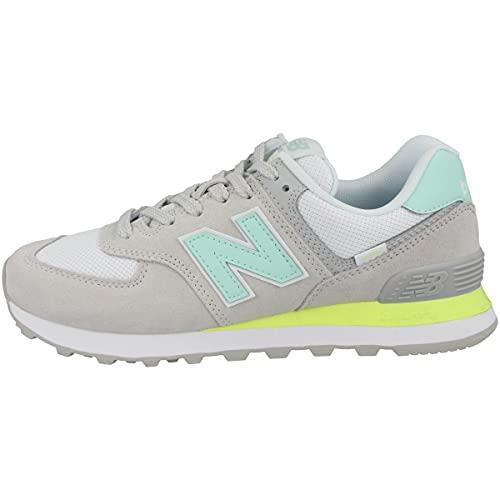 New Balance Zapatillas para mujer 574v2 Core, color Gris, talla 38 EU