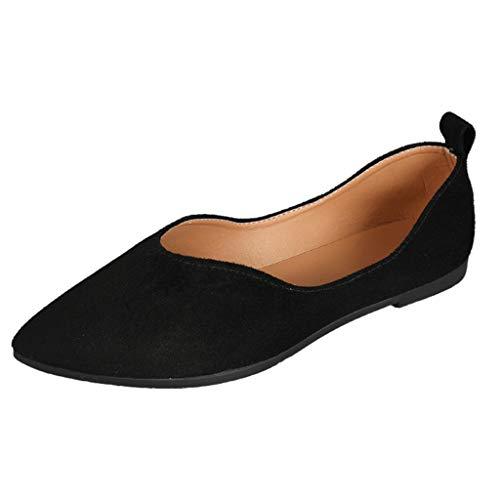 Damen Mary Jane Halbschuhe Mokassin Flache Loafer Freizeitschuhe Slipper Bootsschuhe Casual Schuhe Leichte Bequeme Atmungsaktiv Celucke (Schwarz, 39 EU)