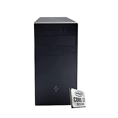Pc desktop i7 10700 Cpu intel 4.80ghz in boost 8-core,Ram 16GB Ddr4,Ssd M.2 256Gb,masterizzatore cd dvd Full hd 4k,Windows 10 pro Pc fisso Computer i7 assemblato Wi Fi Pc i7