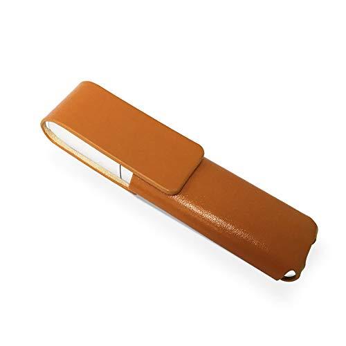 IQOS 3 MULTI 専用 アイコス3 マルチ ケース (ライトブラウン) iQOSケース シンプル 無地 保護カバー 収納 電子たばこ おしゃれ 革