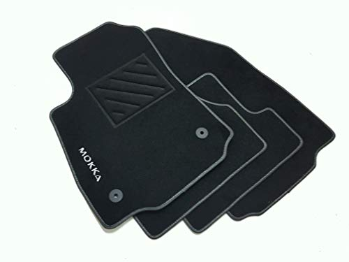 Tappetini compatibili per Mokka - Mokka X dal 2012- con Clip,1 Logo e battitacco