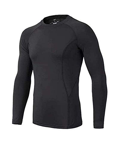 BUYKUD Men's Long Sleeve Base Layer Compression Athletic Tights Thermal...