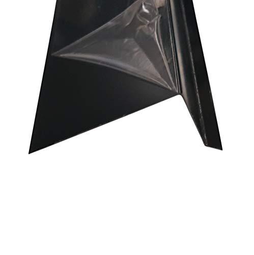 Ortgangblech 200 cm ( 2000mm) lang Stahl verzinkt anthrazitgrau RAL7016 Dachprofil Dichtungsblech Dachblech Kantblech (Z:125mm/A:15mm+B:50mm+C:60mm)