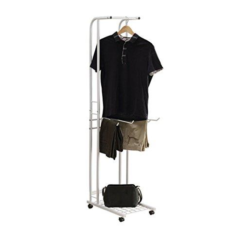 WURE Boden Metall Kleiderständer mit Flaschenzug Wäscheständer Wohnzimmer Schlafzimmer Kleiderbügel modernen minimalistischen Stil weiß (50 * 30 * 155 cm)