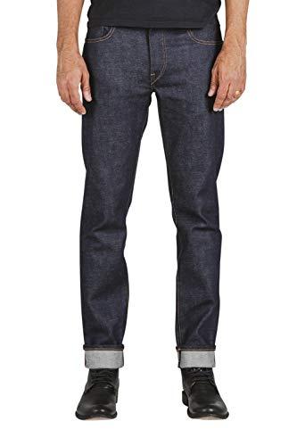 HIROSHI KATO Jeans Men's The Pen Slim Straight Raw 14 oz 4-Way Stretch Selvedge Denim Slim Fits Made in USA RAW 30
