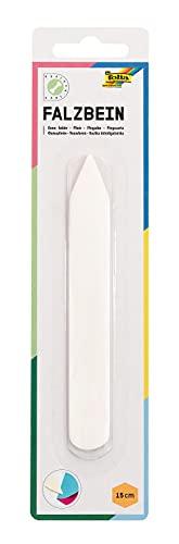 folia 23004 - Falzbein aus Knochen, ca. 150 x 20 mm, mit abgerundeter Spitze - ideal als Falz-, Rill- und Knickhilfe für Papiere und Kartons