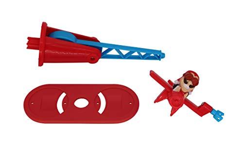 Doppeldecker für Looping Louie Spielarm mit 2 Flugzeugen Tuning Edition 2020 (Adapterplatte + 1x Flieger, Rot)