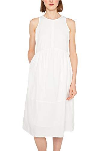 ESPRIT Damen 049EE1E040 Kleid, Weiß (Off White 110), (Herstellergröße: 38)