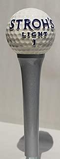 Stroh's Light beer 1 Golf Ball Tap Handle marker knob