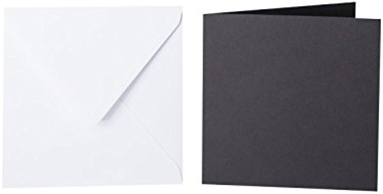100 100 100 quadratische Briefumschläge 110 x 110 mm Weiß mit Dreieckslasche, 100g  100 Faltkarten 100 x 100 mm, 240g, Farbe  20 Schwarz B015POUL90 | Discount  | Ruf zuerst  | Sale Outlet  517f87