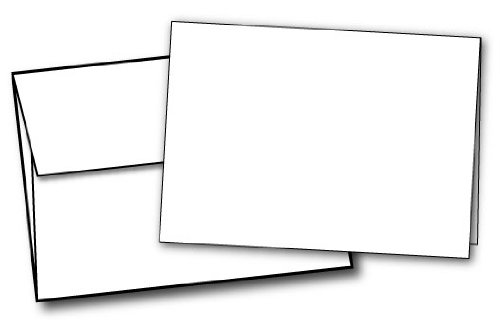 "5"" X 7"" Heavyweight (80lb Cover) Blank White Greeting Card Sets (40 Cards & Envelopes)"