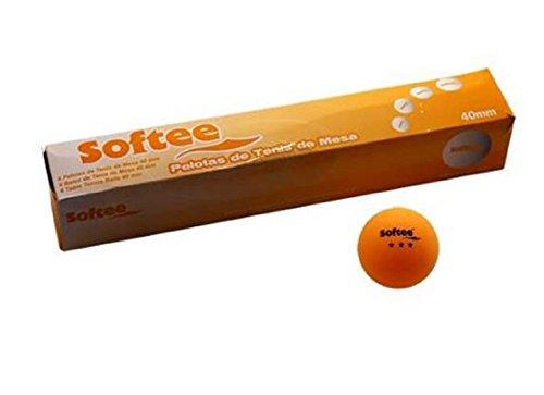 Softee ping pong pelotas caha 6 unid Naranja