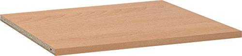 CS Schmalmöbel 55/53 Soft Plus Einlegeboden für Typ 62, 78 x 2.4 x 32 cm, buche
