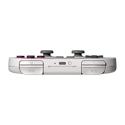 8Bitdo SN30 Pro (G Classic Edition) Bluetooth Game Pad & 8Bitdo Wireless Bluetooth Adapter for Windows/Mac/Raspberry Pi/Switch