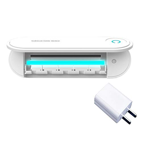 Amusingtao - Portaspazzolino elettrico per la casa, per il bagno, con dispenser salvaspazio Ultralet Ray Keep Dry Punch Storage Organizer senza traceless a parete 5 fori accessori (C)