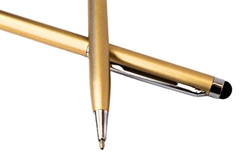 tomaxx 2X Gold Stylus Pen - Eingabestift mit Kugelschreiber für ZTE Axon 7 / ZTE Axon 7 Mini