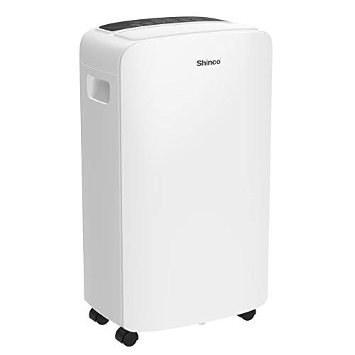 Shinco 2,000 Sq.Ft Dehumidifier for Medium Spaces, Home, Office, Basement, Bedroom, Bathroom, Laundry room, Garage. Auto or Manual Drain, Quietly Remove Moisture & Control Humidity