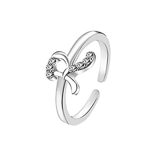 Janly Clearance Sale Anillos para mujer, anillo de letras 26 letras inglesas, diseño de combinación de diamantes, regalo de pareja, conjuntos de joyas, día de San Valentín (R)