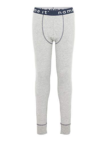 NAME IT Jungen Lange Unterhose Leggings NKMLONG, Farbe:Grey Melange, Größe:158