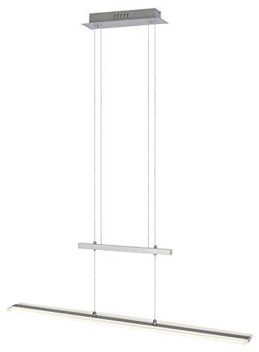 ESTO Lighting 780200 A+, Zugpendelleuchte, Aluminium, 30 W, Grau/Weiß/Klar, 12 x 90 x 150 cm