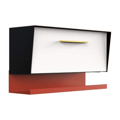 modbox USA Mid Century Modern Angled Wall Mounted Mailbox Custom Color Combo with Letter Tray Option