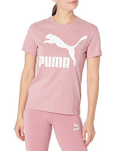 PUMA Damen Classics Logo T-Shirt, Fingerhut, Mittel