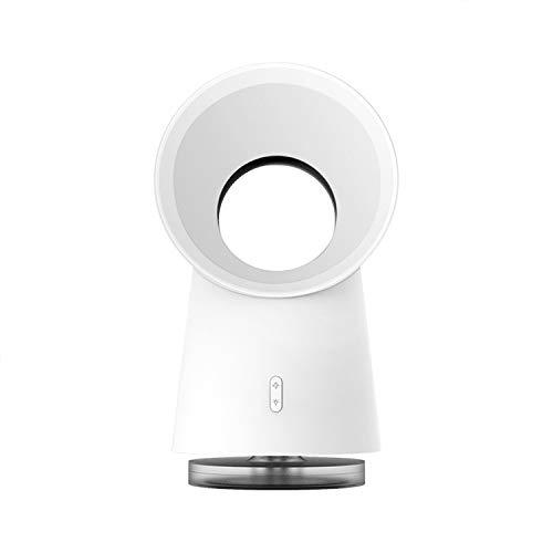 LLSL Ventilatore Desktop Senza Fianco, Ventilatore del circolatore dell'Aria con umidificatore di Nebbia, Luce a LED - 3 velocità Regolabile, per casa/Camera da Letto/Ufficio/da Esterno