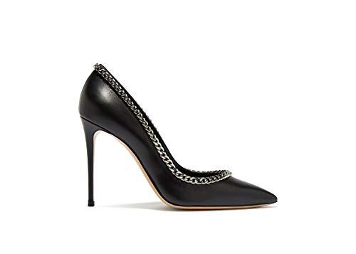 Casadei Damen High Heels Black Pumps, Schwarz - Schwarz - Größe: 38.5 EU