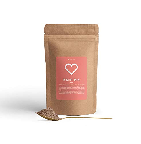 PUREGANIC Heart Mix | Superfood Pulver-Mix | Für Smoothies & Bowls | Acai, Walnüssen, Rote Beete, Buchweizen, Leinsamen, Heidelbeeren, Johannisbeeren, Kokos, Fenchel, Hafer | 450g