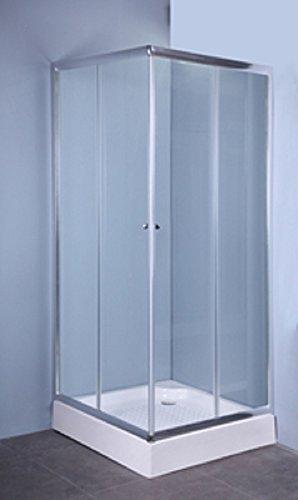 Douchecabine met 2 deuren, 70 x 90 mm, transparant, 4 mm