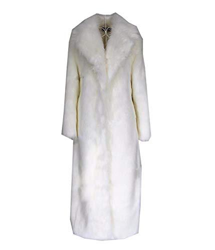 Huaishu Veste Chaude Femme Manteau Moelleux À Manches Longues Vêtements d'automne Hiver,White,M