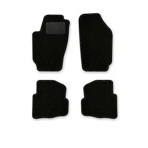 Bär-AfC SK03480 Classic Auto Fußmatten Nadelvlies Schwarz, Rand Kettelung Schwarz, Textiler Trittschutz, Set 4-teilig, Passgenau für Modell Siehe Details