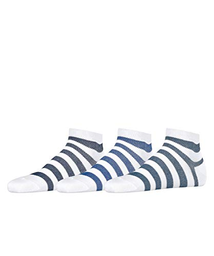 Esprit Mesh Stripe 3-Pack M SN Calcetines, Blanco (White 2000), 40-46 (Pack de 3) para Hombre