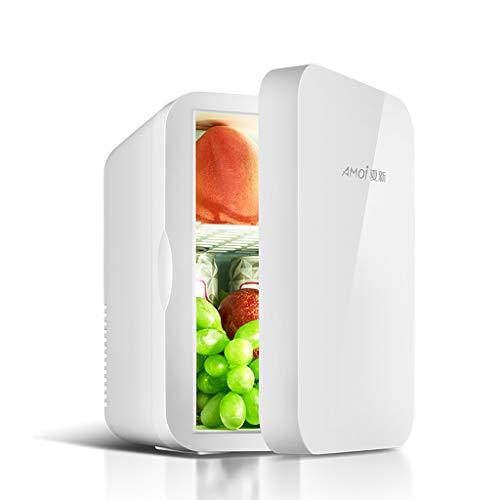 Autokühlschrank Mini-Kühlschrank 6L Kleiner Mini-Schlafsaal Student Kühlschrank Mini-Kühlschrank, 12V AC/DC tragbar weiß