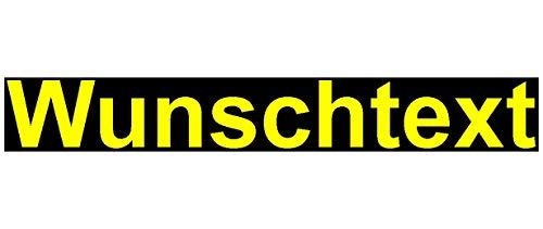 Samunshi® Aufkleber Schriftzug Autoaufkleber Werbung in 9 Größen und 25 Farben (1x60cm gelb)