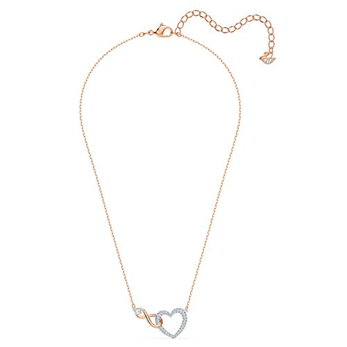 Swarovski Collana Infinity Heart, Bianco, Mix Di Placcature