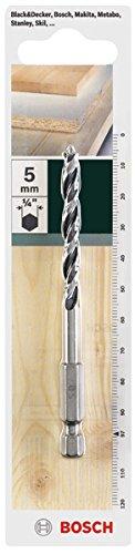Bosch Holzbohrer mit 1/4 Zoll-Sechskantschaft (Ø 5 mm)