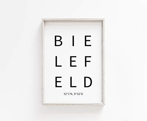 Typo Poster, city-love - Bielefeld