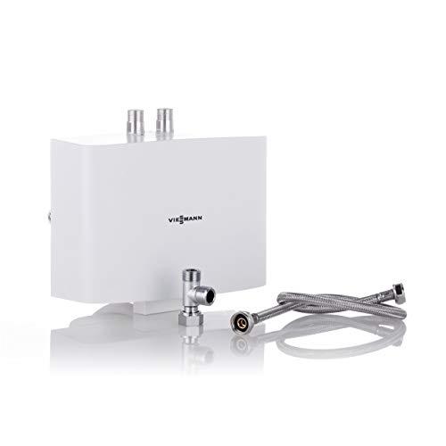 Viessmann Mini-Durchlauferhitzer hydraulisch gesteuert Vitotherm EI5.A6 Warmwasserkomfort im Miniformat 5,7 kW drucklos Farbe weiß ZK03814 Energieeffiziensklasse A