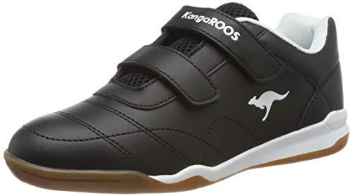 KangaROOS Unisex-Erwachsene Courtyard V Sneaker, Gelb (Jet Black/White 5012), 38 EU