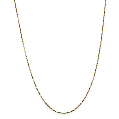 14k Yellow Gold 1mm Link Box Chain Necklace 30 Inch Pendant Charm Fine Jewelry For Women Gifts For Her